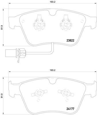 Hella Pagid Front Disc Brake Pad Set 3W0698151AA 355020441