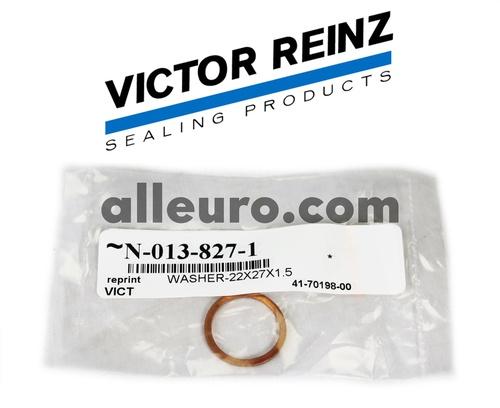 Victor Reinz Engine Block Drain Plug Seal N-013-827-1 41-70198-00