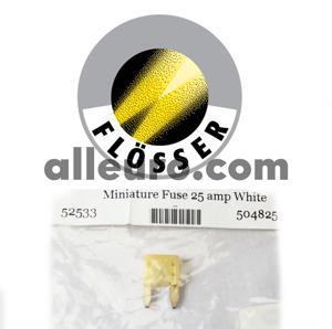 Flosser Fuse 504825 - Mini Blade Fuse 25amp