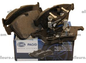 Hella Pagid Front Disc Brake Pad Set 3W0698151AA