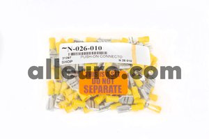 Shop Supply Female Disconnect Terminal N-026-010 - ELECTRICAL TERMINAL PUSH-ON CONNECTOR yellow