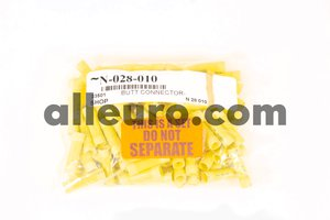 Shop Supply Electrical Connector N-028-010 - ELECTRICAL TERMINAL BUTT CONNECTOR, yellow