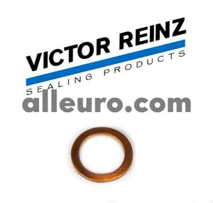 Victor Reinz Engine Block Drain Plug Seal 007603-014106 - COPPER WASHER 14mm X 20mm