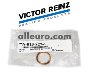 Victor Reinz Engine Block Drain Plug Seal N-013-827-1 - COPPER WASHER 22mm X 27mm